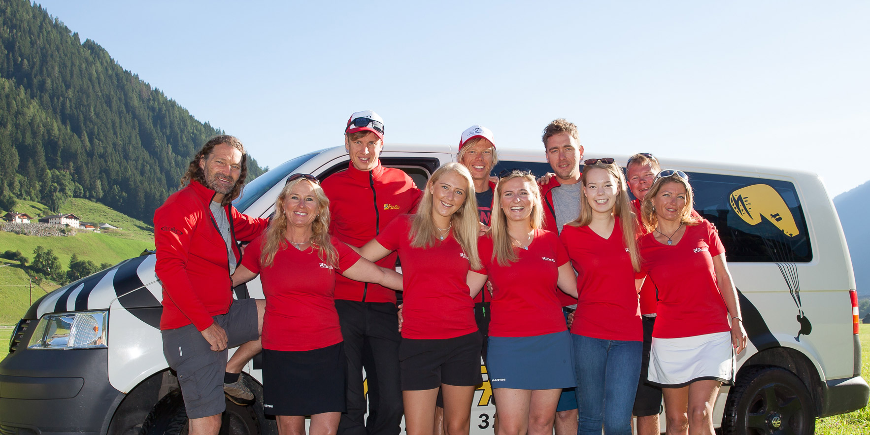 Das Team der Flugschule Parafly