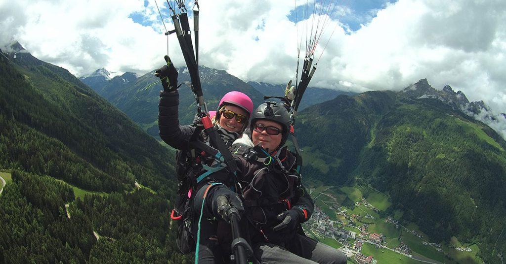 """Action"" Paragliding Tandemflug"
