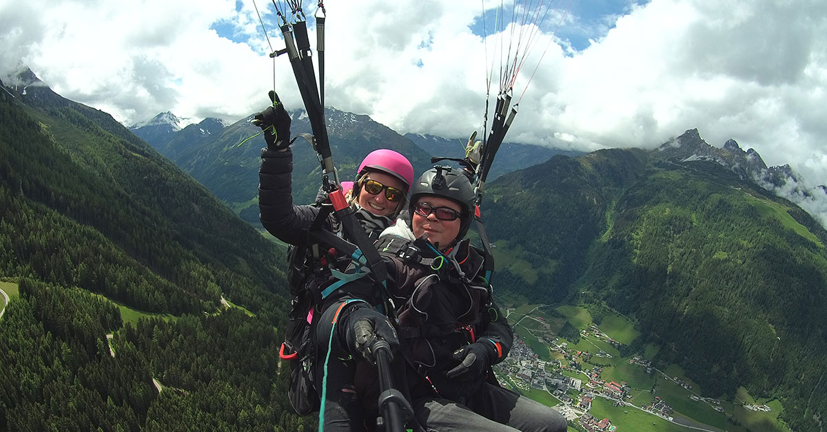 """Action"" Paragliding Tandem Flight"